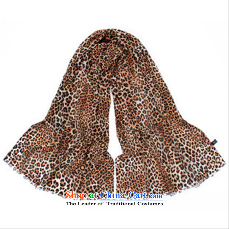 2015 Korean stylish blue spring, autumn and winter new Leopard Ms. wooler scarf sexy shawl long Leopard Natural Finish