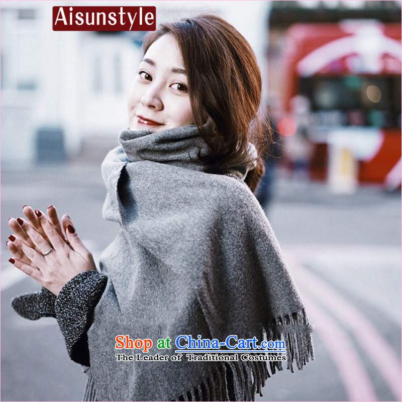 The new long aisunstyle2015 pashmina shawl female winter a two with dark gray