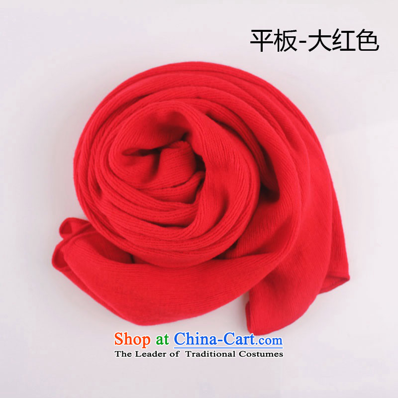 The Korean version of the new autumn and winter solid color thick fine fleece line broadening women a scarf Ms. couples Tablet - Red