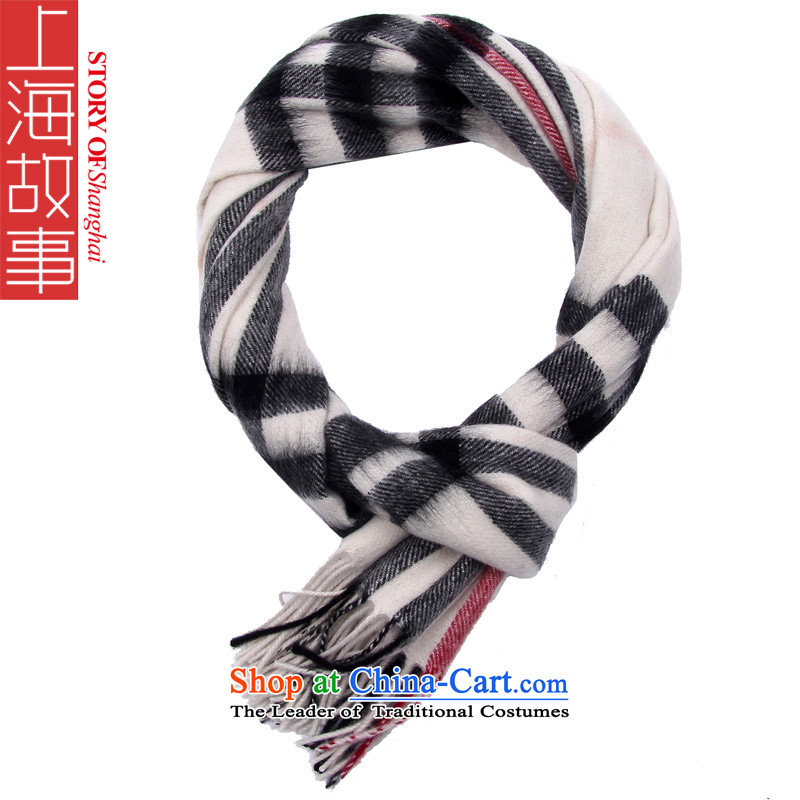 Shanghai Story mix of broadening the lint-free scarf warm winter stylish extension shawl grid style177070m White
