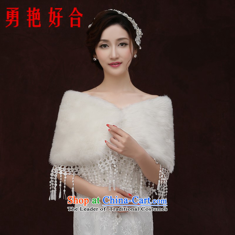 Yong-yeon and 2015 new bride gross shawl married women wedding dresses shawl winter, shawl thick white winter