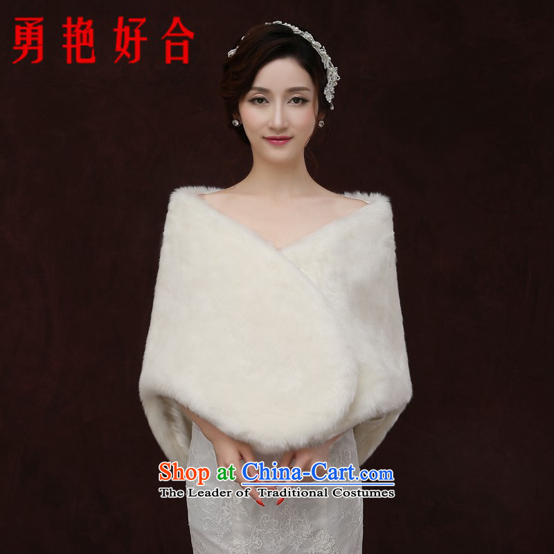 Yong-yeon and wedding shawl autumn and winter 2015 new cloak white marriages shawl winter gross shawl white winter
