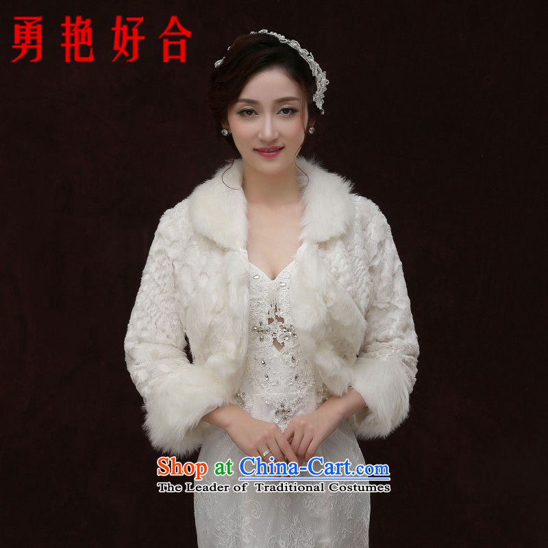 Yong-yeon and bride wedding gross shawl winter thick warm long-sleeved shawl evening dresses qipao shawl white soft shawl white winter