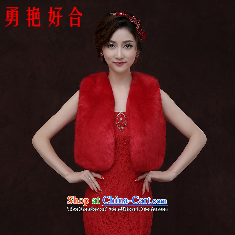 Yong-yeon and larger bride gross shawl wedding dresses shawl shawl winter thick hair Red Shawl Red Winter