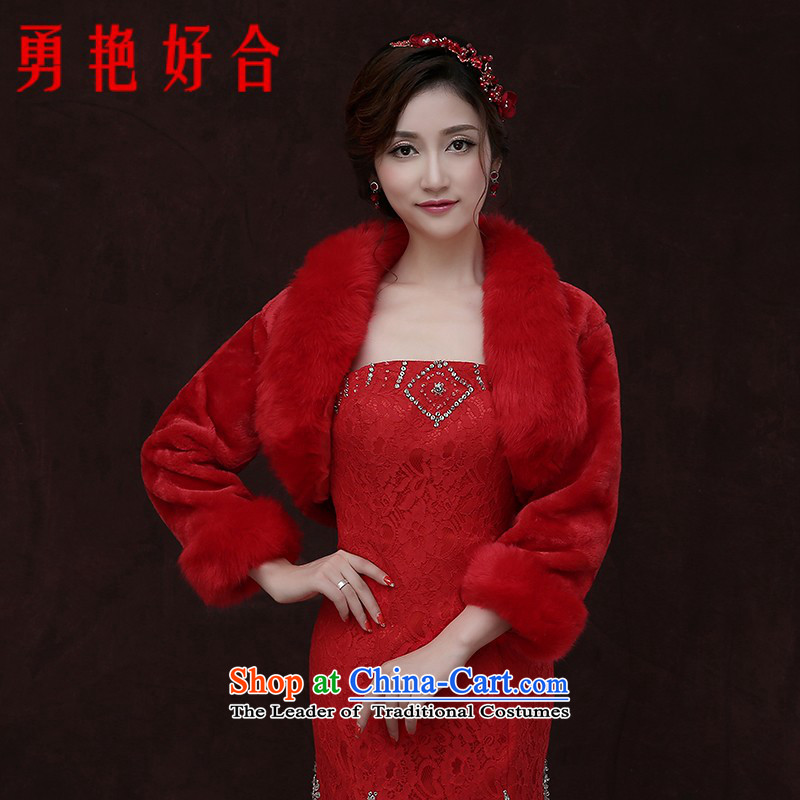 Yong-yeon and 2015 new bride wedding dresses marriage jacket Red Shawl qipao thick warm winter Red Shawl wedding gross Winter