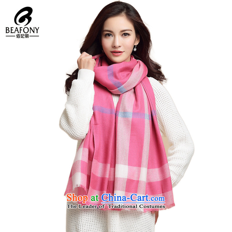 Bai Fei Li new grid wool autumn and winter warm modern wool Fancy ScarfWYM10044313be red, see commodity Properties