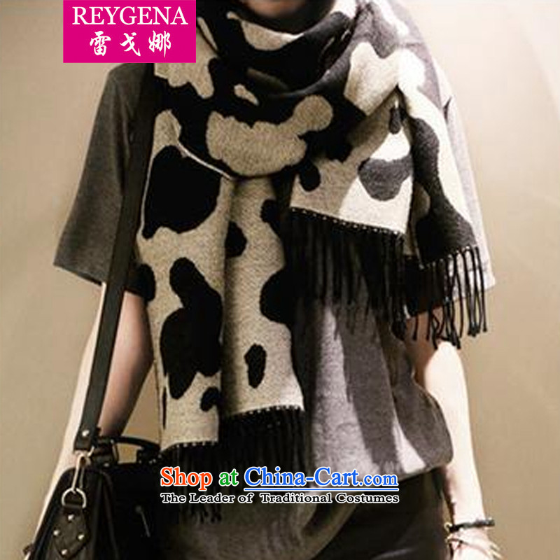 The Mankiw 2015 Fall/Winter Collections Korean Sleek and versatile dairy stamp thick warm emulation cashmere shawls a stream of double-sided great muffler 1904 Map Color