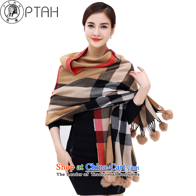 In the autumn and winter, scarf of England latticed streaks oversized thick warm a shawl4313rabbit hair ball and scarves color