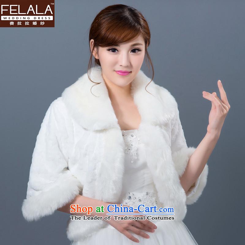 Ferrara 2015 New Winter Sweater shawl Korean brides wedding dresses shawl marriage wedding accessories White