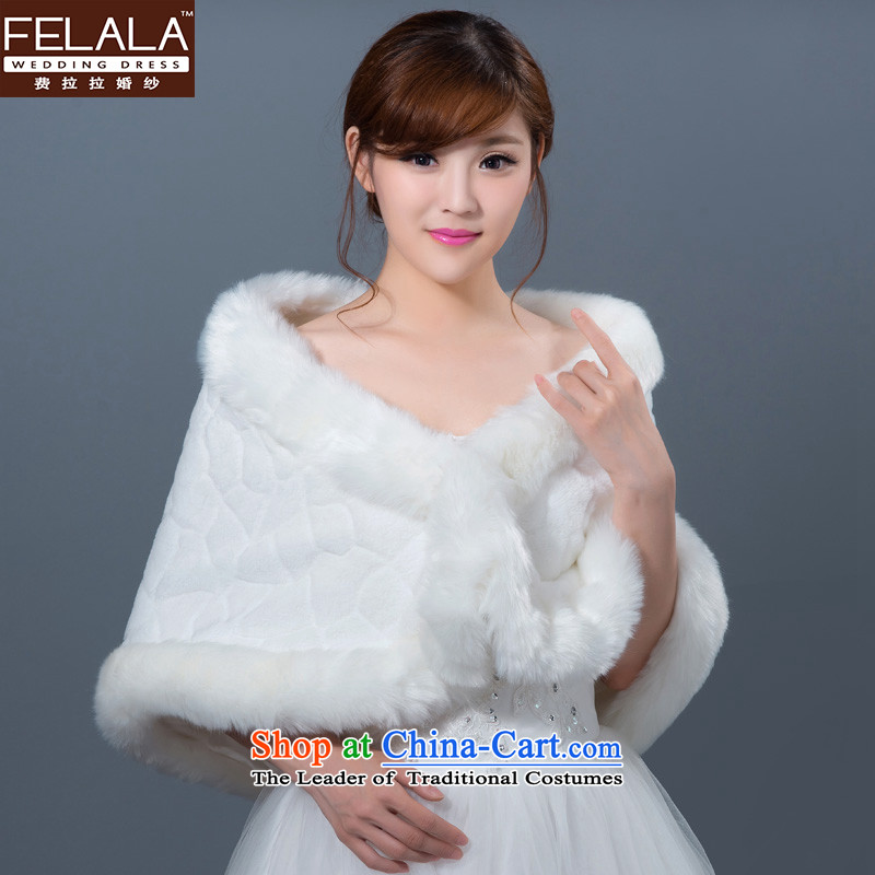 Ferrara wedding accessories 2015 winter of gross shawl thick marriages white cape