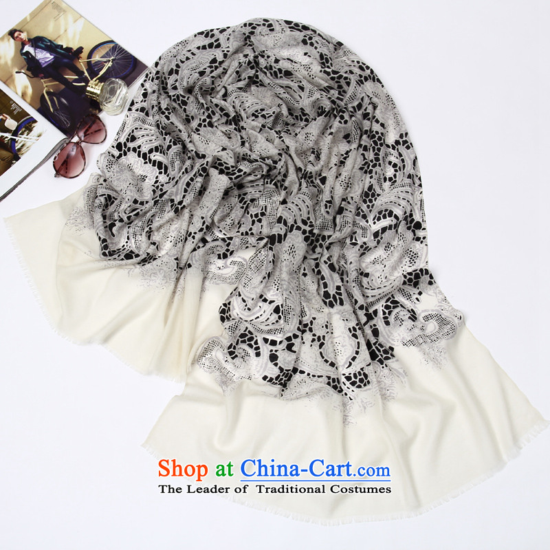 Shanghai Story Korean fashion, 100% wool gentle ballet long 80 high-end wool stamp scarf gentle ballet white, Shanghai Story STORY IN SHANGHAI) , , , shopping on the Internet