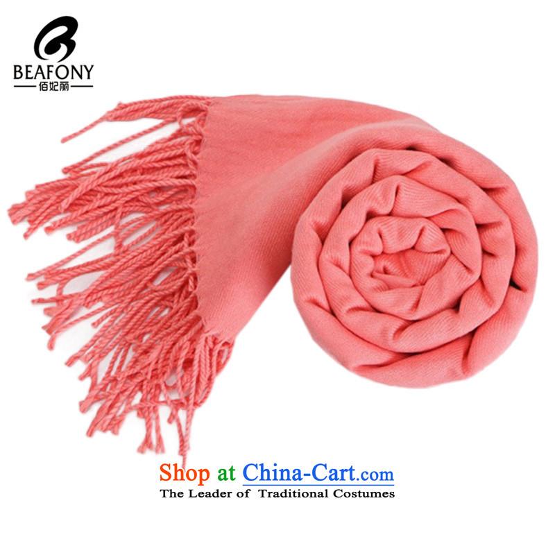 Bai Fei Li Korean pure color, scarves, Ms. Winter warm handkerchief also WB1028 Pink