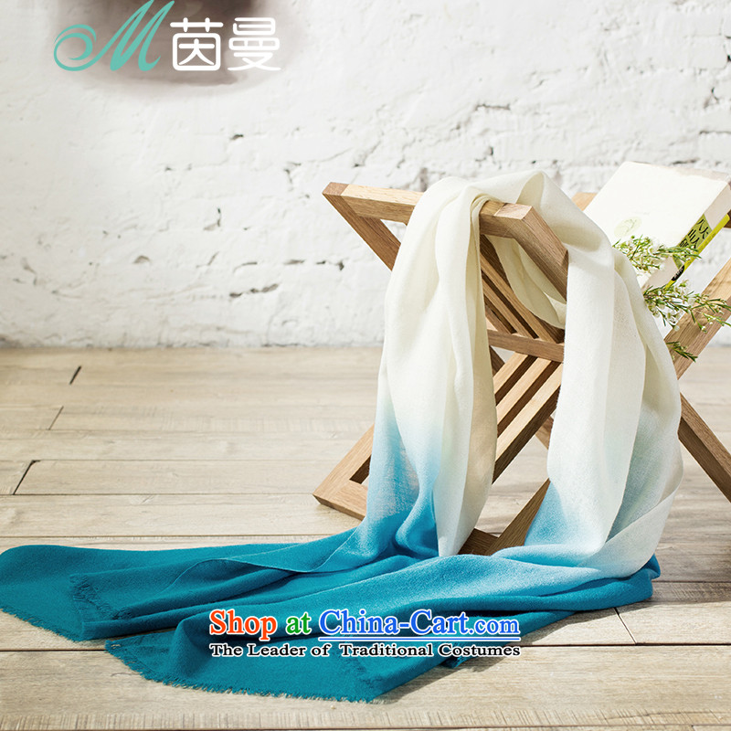 Athena Chu Cayman 2015 Autumn new arts gradient wild woolen shawl scarf girl (853140170] Green Green