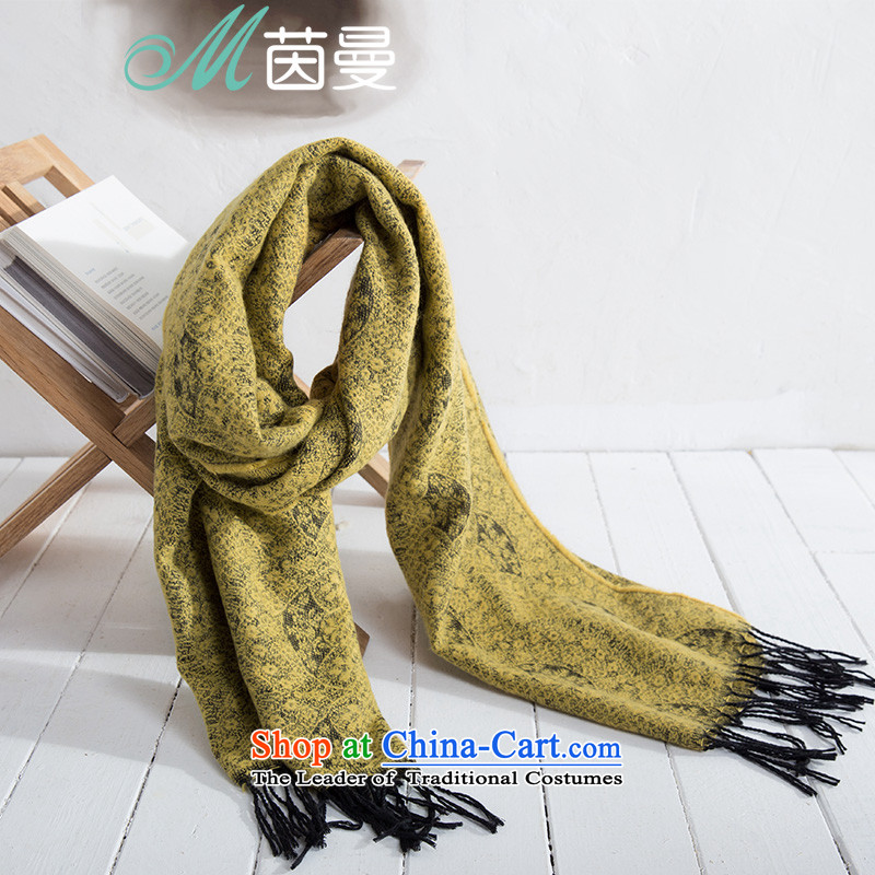 Athena Chu Cayman2015 autumn and winter new arts jacquard edging women and two with wild scarf 853140178 yellow yellow