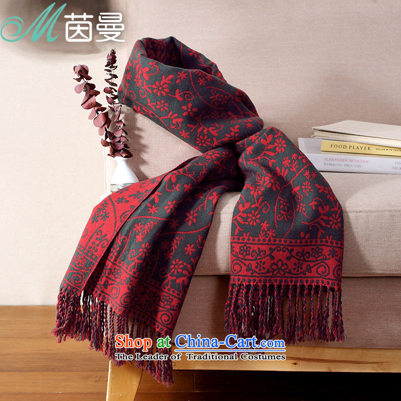 Athena Chu Cayman scarf autumn and winter long literary stamp pattern scarf women cape4313A 844140005 (Health Doi Red Other
