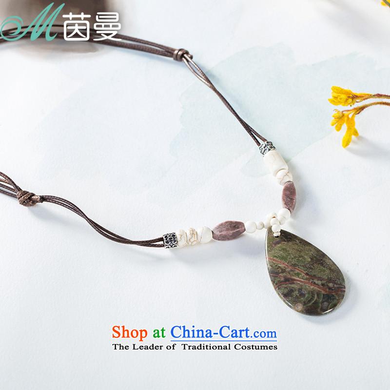 Athena Chu Cayman 2015 new Hang Chain natural stone arts wild (853151142] shade of purple shade of purple
