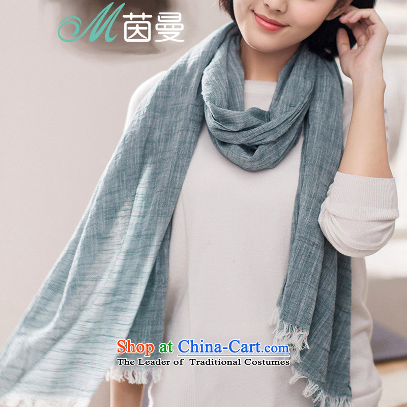Athena Chu Cayman 2015 autumn and winter new arts natural folds edging strip scarf elections as soon as possible 854140255 Ms. Green Green