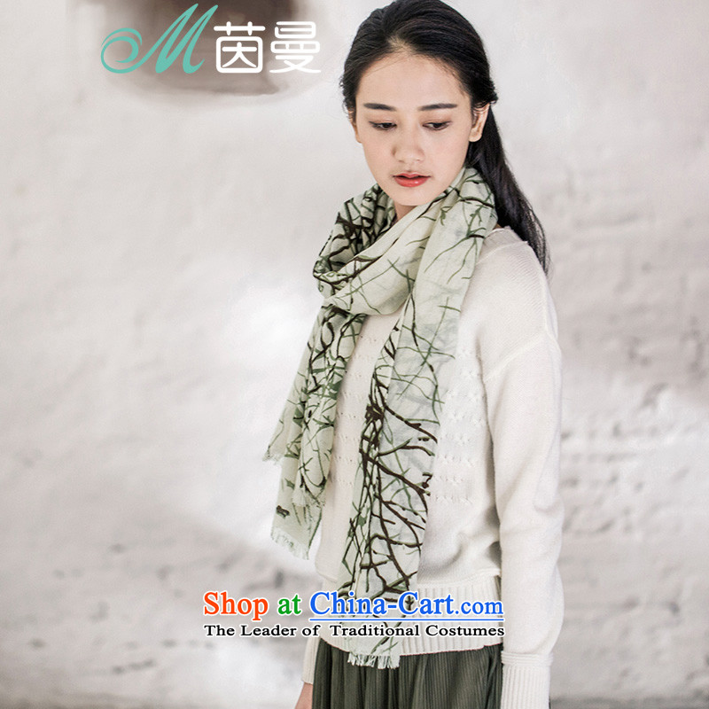 Athena Chu Cayman2015 Autumn new Wild scarf female arts stamp Fancy Scarf electoral 853141152] light green light green