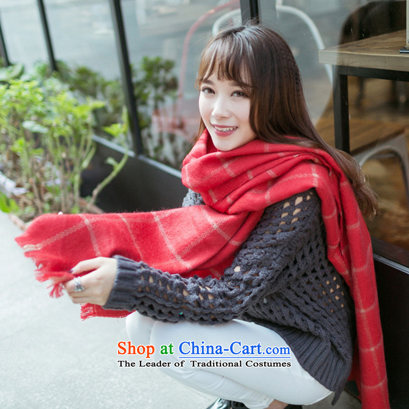 Sleek and versatile TAOYEE large compartments shawl scarf red checkered scarves couples holiday gifts red