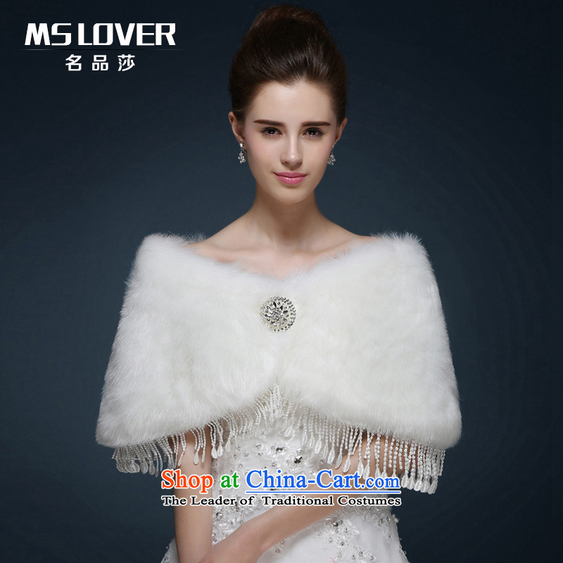 Mslover wedding dresses warm partner with lace spaniel drill MPJ151117 shawls gross Ivory