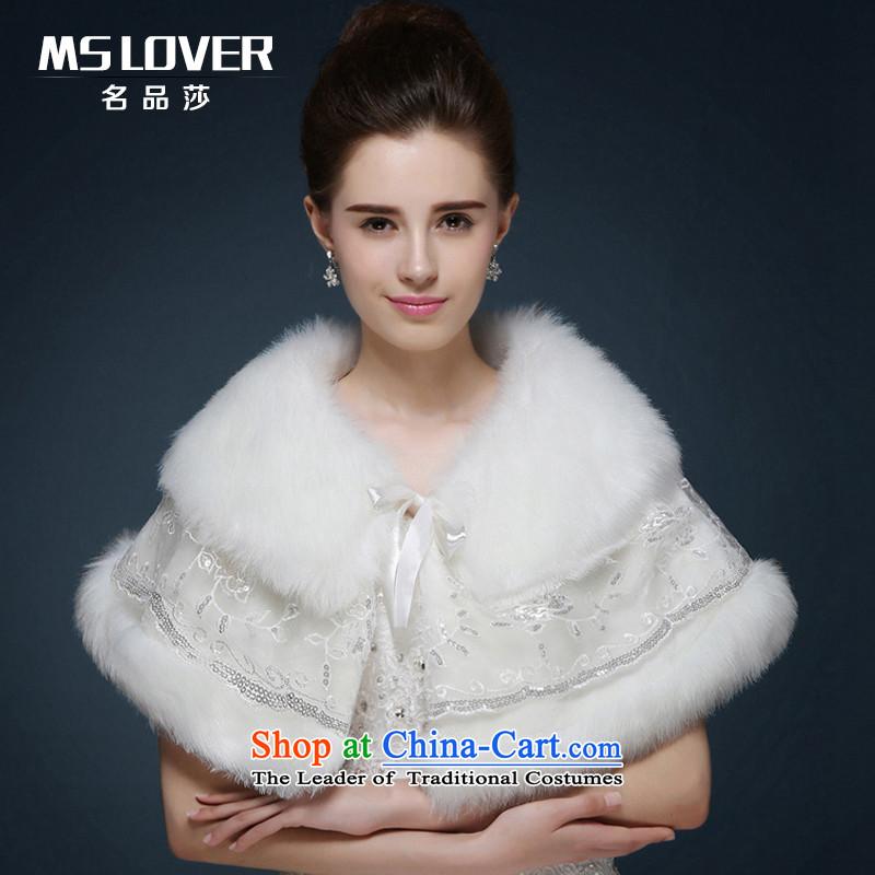 Mslover聽wedding dresses warm partner plush warm gross vest聽 MPJ151121聽Ivory