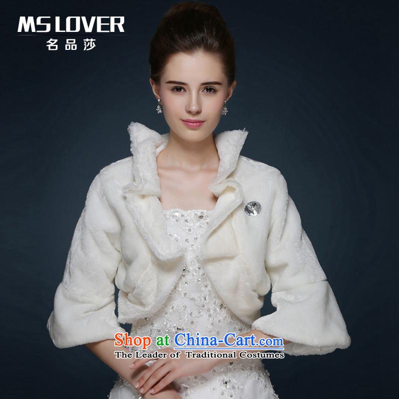 Mslover聽wedding dresses warm partner flat Gross Gross shawl聽 MPJ151128 horn cuff聽Ivory