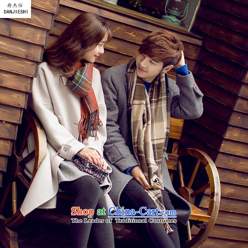 Dan Jie Taxi2015 autumn and winter new thick warm sweater scarf female to male Korean Knitting scarves, a couple who knocked color shawlNWBrown