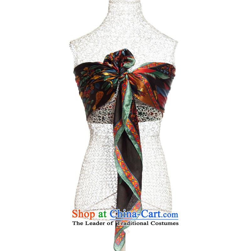 High-eup EGAO silk intensify shawl lucky tree silk scarf22101Black