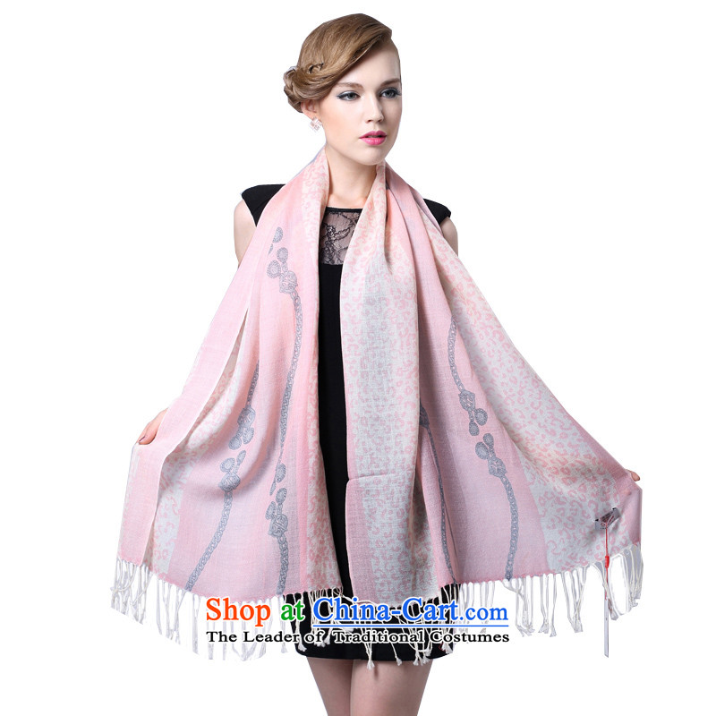 Hang Yuen Cheung-long Fancy Scarf dual-use air conditioning shawl thin shawl spring and autumn gifts _Boxset_ wool cashmere texture a reluctant Pink