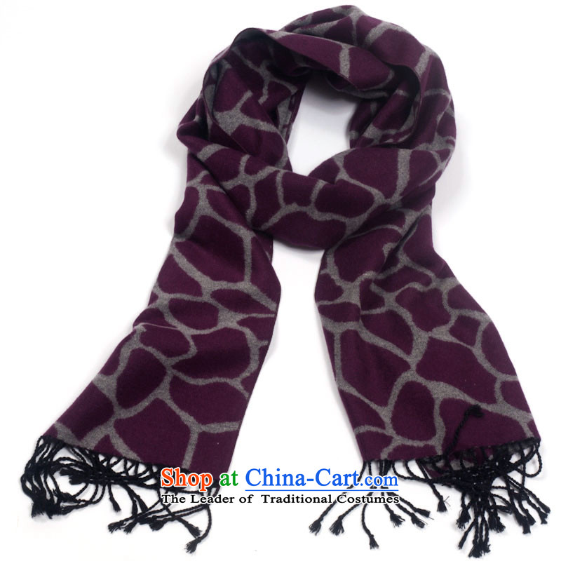 Ms. EGAO high-eup silk scarves brushed purple long stream of ripple su Fashion Trend of Ms. Michelle cracking personality scarf warm winter a purple cracking