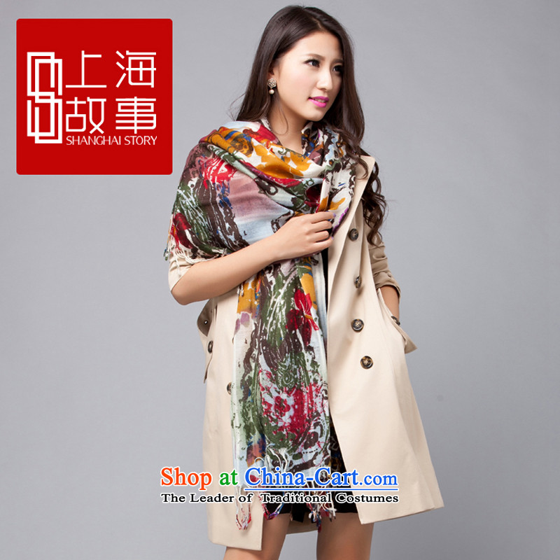 Shanghai Story wooler scarf her from the sea to E woolen shawl W6318218206 green are code