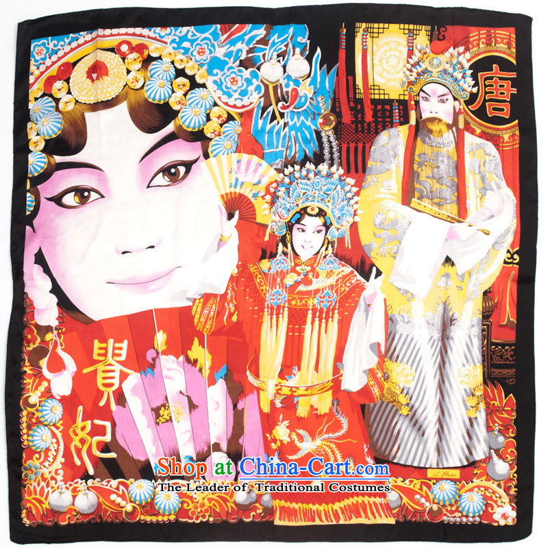 Ms. EGAO high-eup silk scarf Fancy Scarf nationalism and classy Peking Opera Pattern Masks Gwi-2