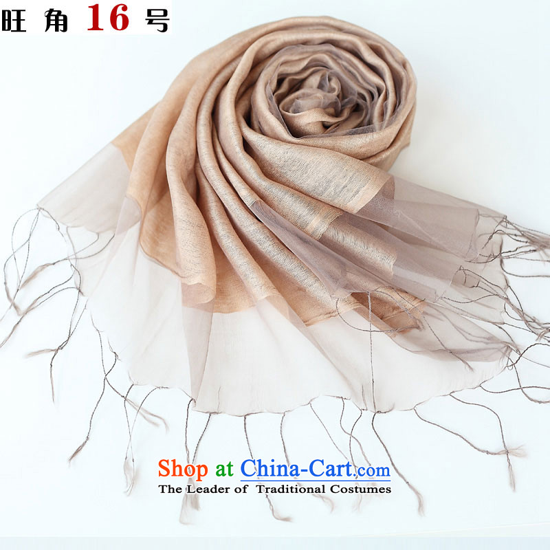 Mong Kok 16 (double silk cotton plus a solid color scarf and color ZSM-12-801