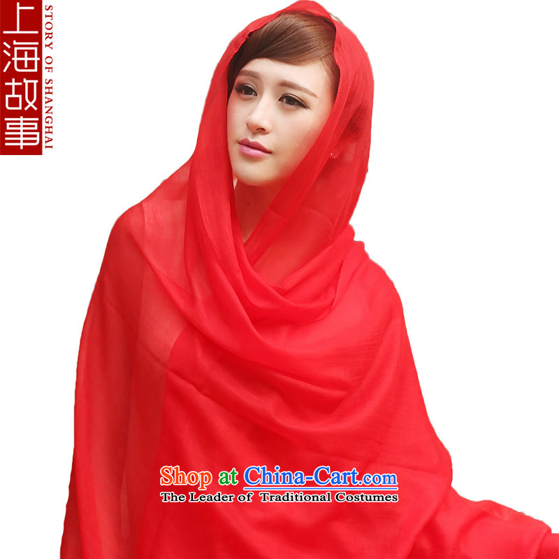 Shanghai Story Ms. pashmina autumn and winter warm a wild Red Shawl
