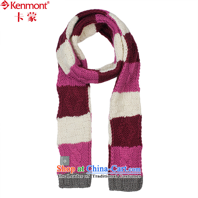 (kenmont) Autumn and Winter Sweater Knit Iceland gross manually scarfKM-1802Purple