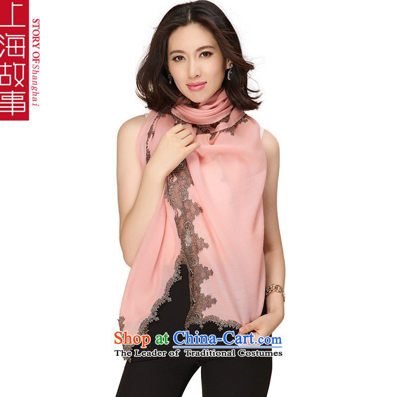 Shanghai Story Pure Wool scarves, autumn and winter a shawl Pink