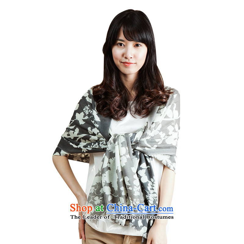 For Fancy Scarf female autumn air-conditioning shawl L11FC152 wool B, Gray are code