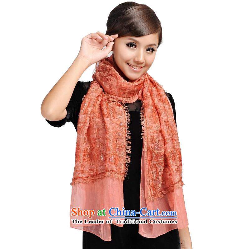 Shanghai Story blooming goddess stylish lace chopper lace scarf 166116 orange