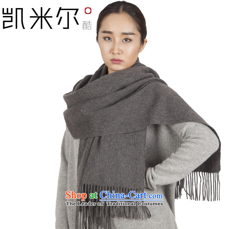 Kemi, core thick pure cashmere Women intensify water marks the end of the scarf cashmere shawls pixel color large stylish autumn and winter cold and warm with a dark gray 175cm-230cm shawl