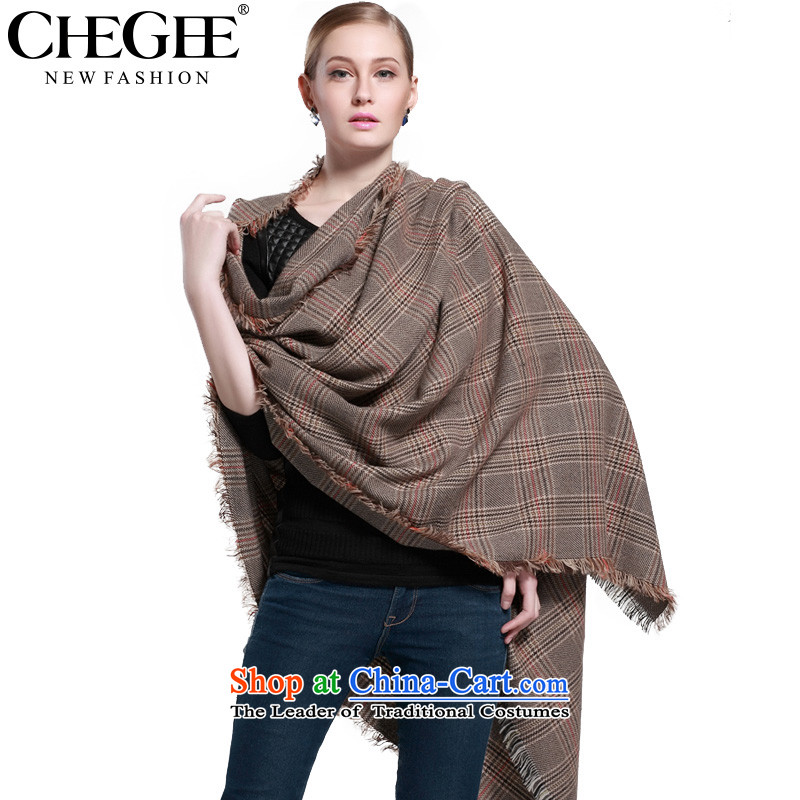 Anthology of autumn and winter, grid CHEGEE pashmina shawl rough edges of the scarf large gray shawl, Gray