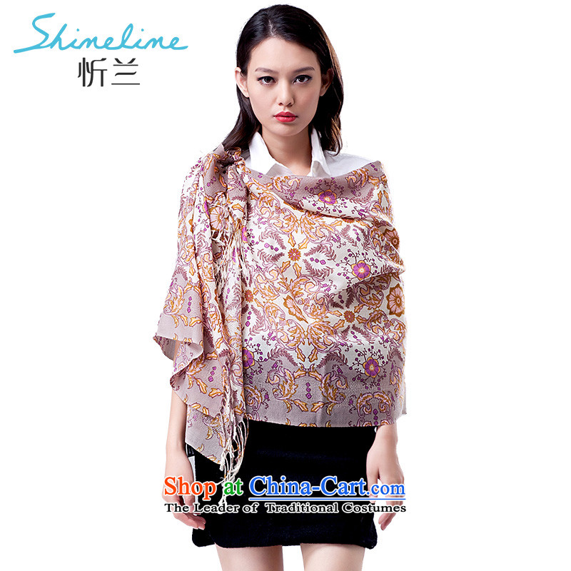 In the autumn of the central plain wool scarves, warm and stylish new upscale, Ms. shawl personality minimalist volume D. flower Pink