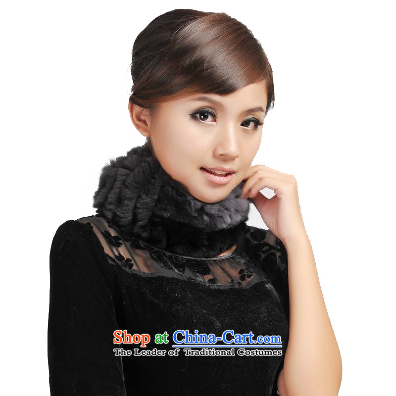 Shanghai Story, and fur grass handkerchief hat 193033 also black and gray