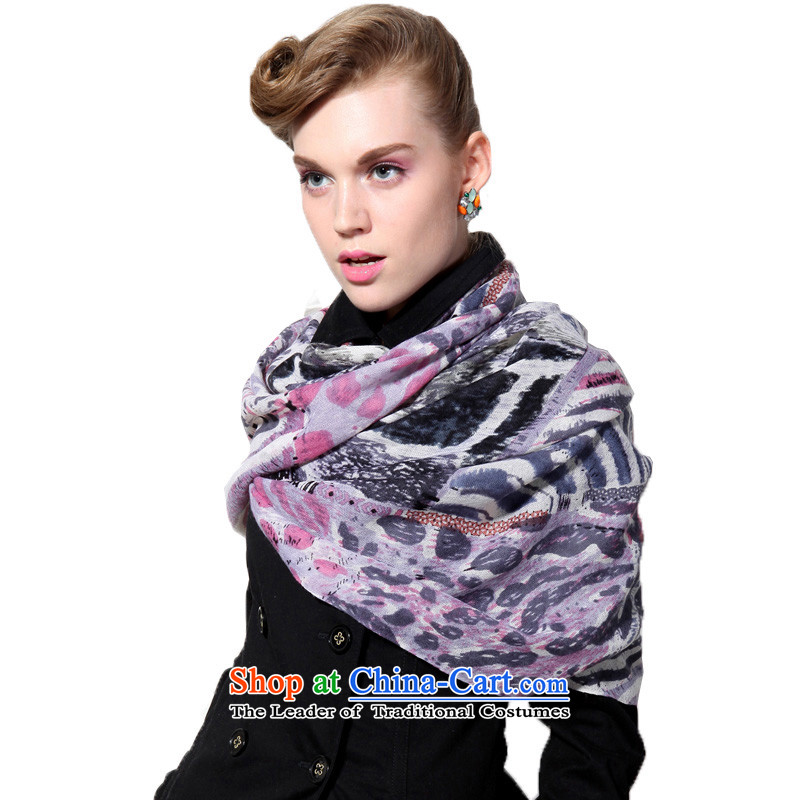 Hengyuan Cheung wool Ms. stamp long scarf gifts _Boxset_ Halo gray powder toner Gray