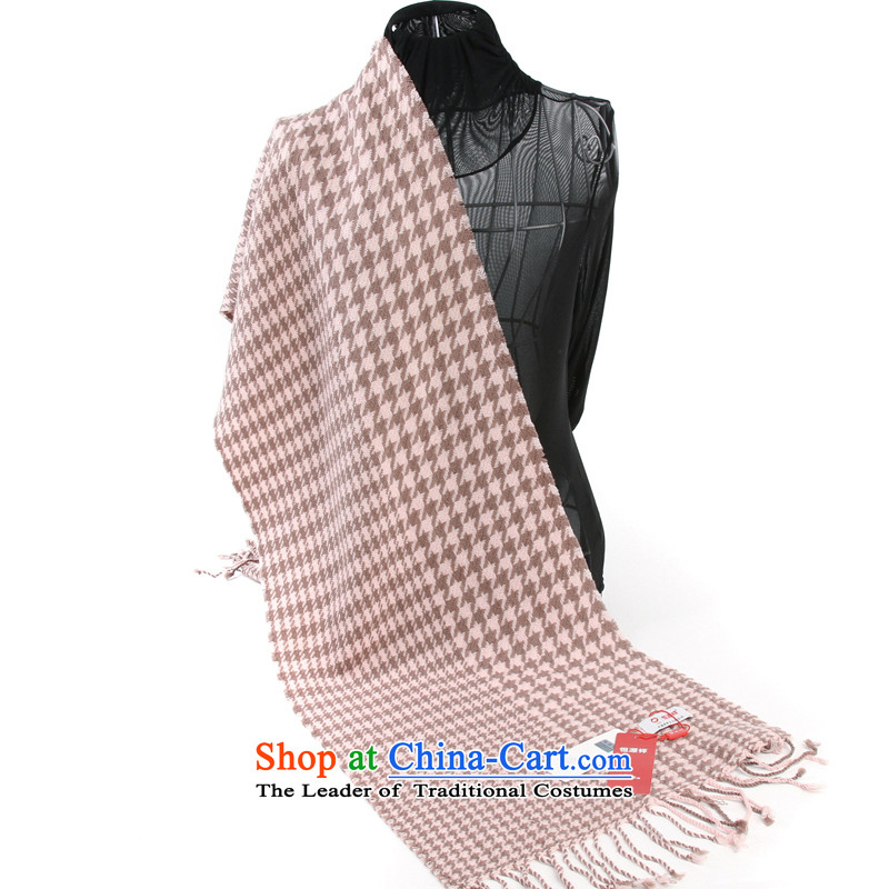 Hengyuan Cheung Plaid o long hair scarf cashmere shawls cashmere feel comfortable air-conditioned (Boxset) Pink
