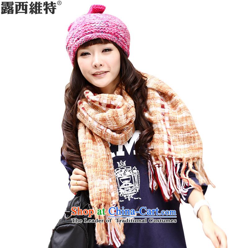 Lucie, scarf temperament shawl using more female women scarves WJ9004 orange Grid