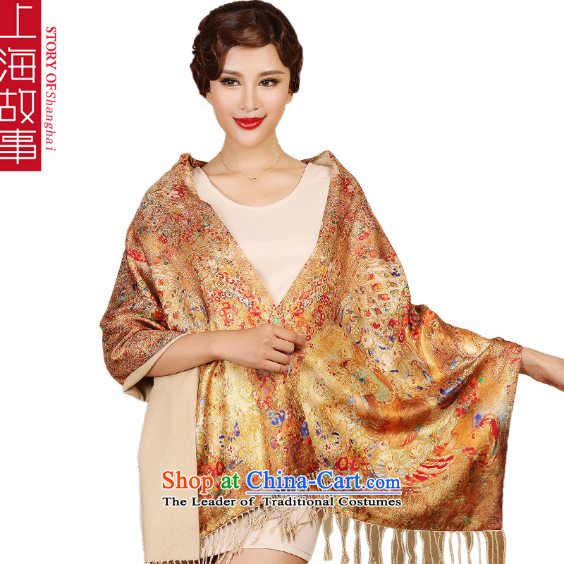 Shanghai Story high silk scarves silk scarf Ms. Santos also autumn and winter, the major long-haired 18# Nixihe dancing-