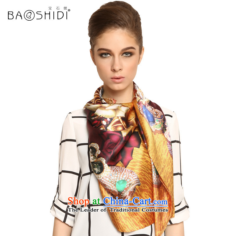 Gems butterfly BAOSHIDI silk scarf silk and classy towel Ms. digital inkjet scarf herbs extract gift scarf color paint China Dance