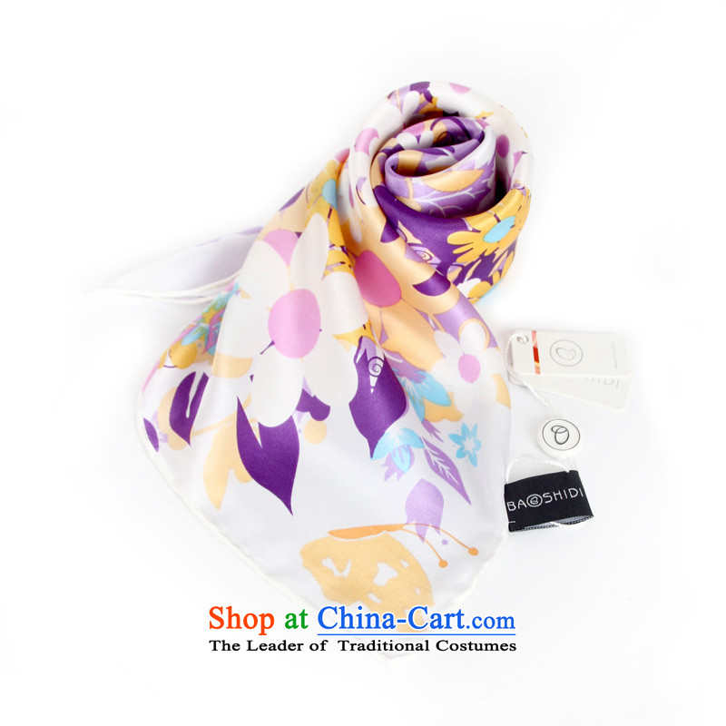 Gems butterfly BAOSHIDI Ms. silk scarf herbs extract silk scarf gift small square/vitality 4 color