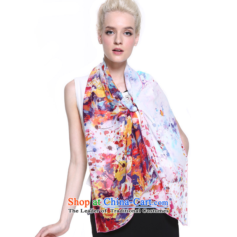 Gems butterfly silk scarf Ms. herbs extract gift silk scarf digital inkjet long towel colorful magic