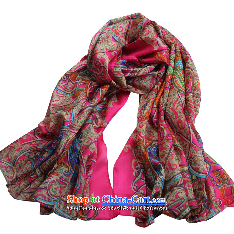 Shanghai Story scarf female autumn and winter herbs extract large stamp long silk scarf shawls-dancing in the red.
